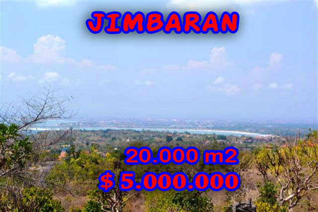 Spectacular Property for sale in Bali, land for sale in Jimbaran Bali  – 20.000 sqm @ $ 250