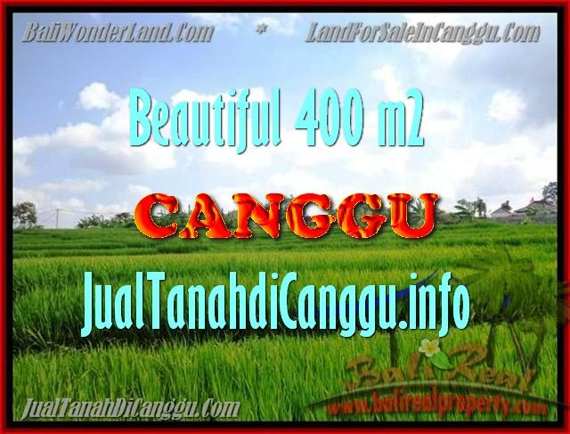 Beautiful 400 m2 LAND FOR SALE IN CANGGU TJCG156