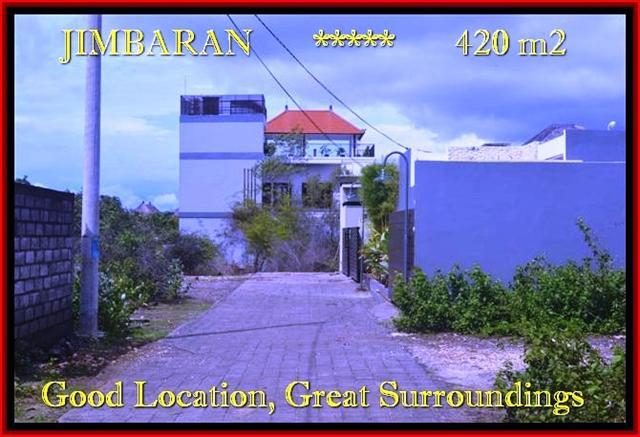 Exotic PROPERTY 420 m2 LAND SALE IN Jimbaran Ungasan BALI TJJI096