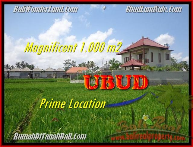 Magnificent PROPERTY UBUD BALI 1.000 m2 LAND FOR SALE TJUB445