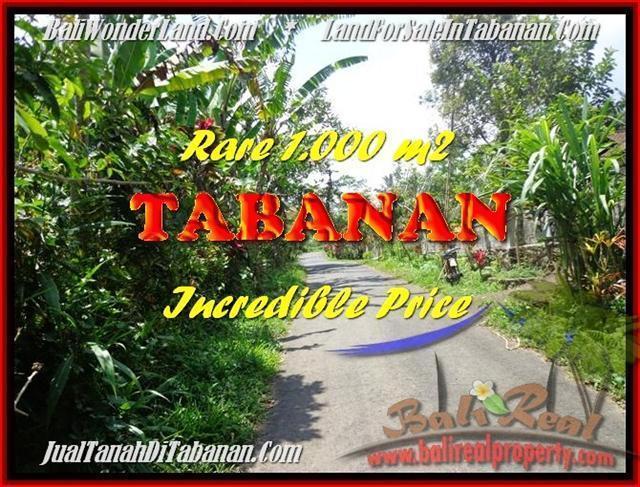 Beautiful 1.000 m2 LAND IN TABANAN BALI FOR SALE TJTB171