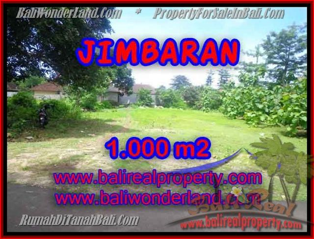 FOR SALE Beautiful 1,000 m2 LAND IN Jimbaran four seasons BALI TJJI063