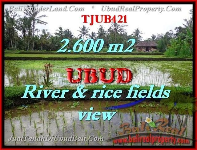 Affordable PROPERTY UBUD BALI 2,600 m2 LAND FOR SALE TJUB421