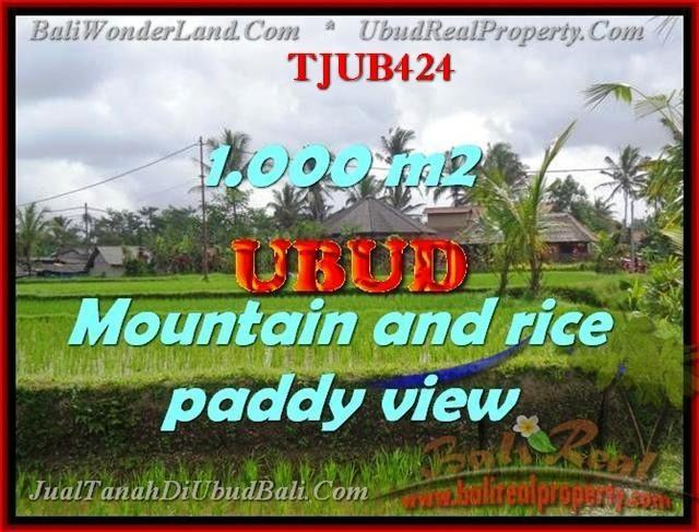 Magnificent 1,000 m2 LAND FOR SALE IN UBUD BALI TJUB424