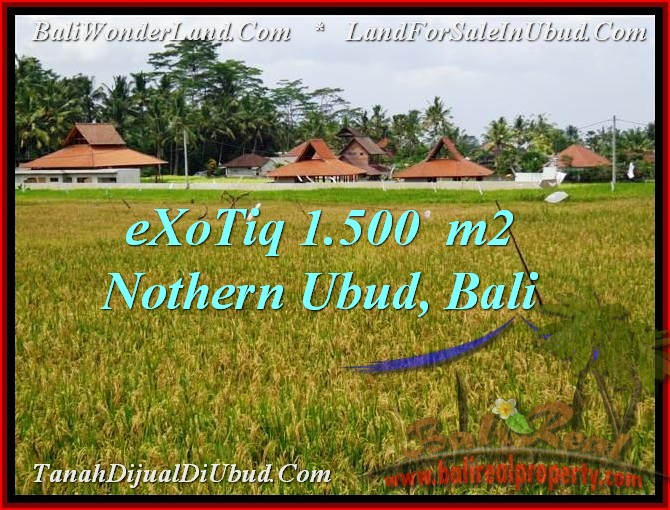 Beautiful UBUD BALI 1,500 m2 LAND FOR SALE TJUB488