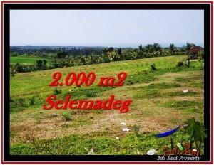 Exotic PROPERTY 2,000 m2 LAND FOR SALE IN Tabanan Selemadeg TJTB228