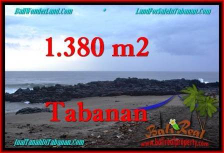 Beautiful 1,380 m2 LAND SALE IN TABANAN BALI TJTB270