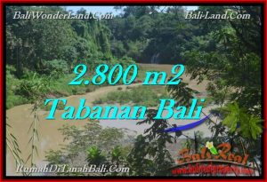 Magnificent 2,800 m2 LAND FOR SALE IN TABANAN BALI TJTB276