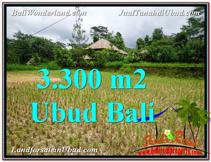 Affordable PROPERTY UBUD BALI 3,300 m2 LAND FOR SALE TJUB562