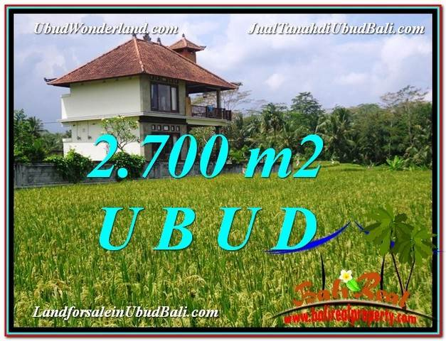 Affordable UBUD BALI 2,700 m2 LAND FOR SALE TJUB595