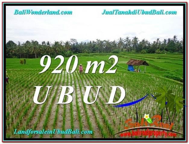 Magnificent PROPERTY Ubud Payangan 920 m2 LAND FOR SALE TJUB575