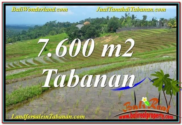 Affordable Tabanan Selemadeg BALI 7,600 m2 LAND FOR SALE TJTB347