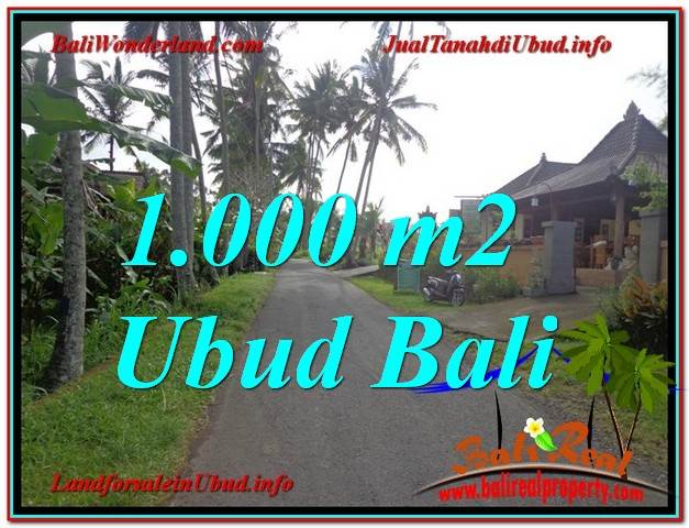 FOR SALE Magnificent 1,000 m2 LAND IN UBUD TJUB604
