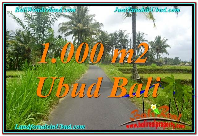 Exotic PROPERTY LAND FOR SALE IN UBUD TJUB634