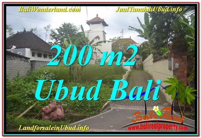 Beautiful PROPERTY 200 m2 LAND IN Sentral / Ubud Center FOR SALE TJUB632
