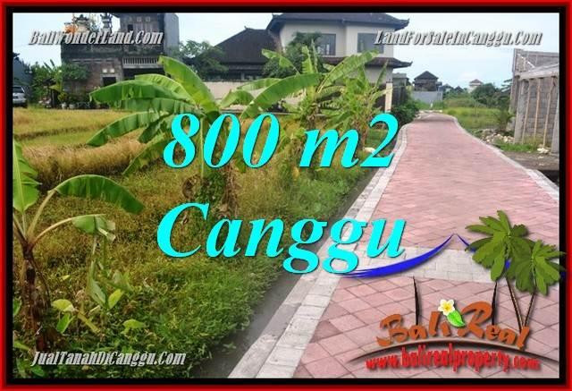 Beautiful CANGGU 800 m2 LAND FOR SALE TJCG221
