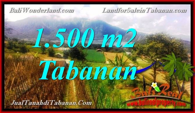FOR SALE Magnificent PROPERTY 1,500 m2 LAND IN Tabanan Bedugul TJTB373