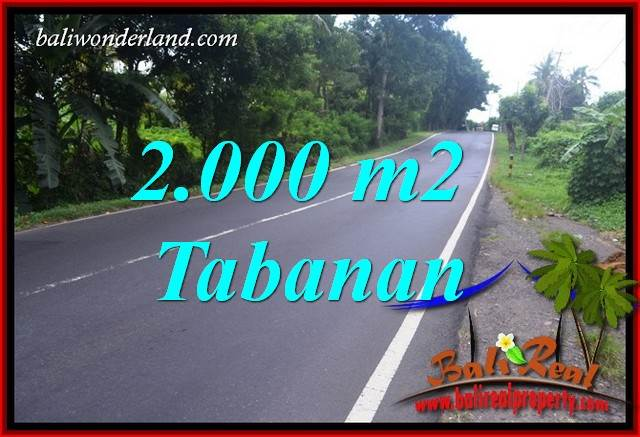 Beautiful Property Tabanan Selemadeg Bali 2,000 m2 Land for sale TJTB398