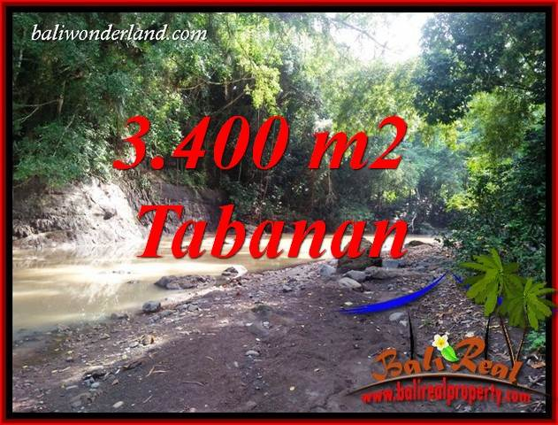 Exotic Property 3,400 m2 Land sale in Tabanan Selemadeg Bali TJTB412