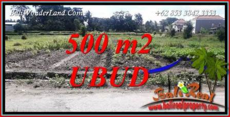 Exotic 500 m2 Land in Sentral Ubud for sale TJUB720