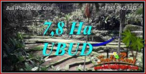 FOR sale Exotic 78,000 m2 Land in Ubud Bali TJUB741