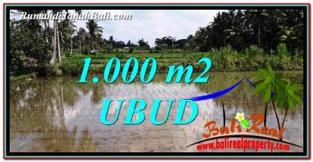 FOR SALE Beautiful 1,000 m2 LAND IN UBUD BALI TJUB753