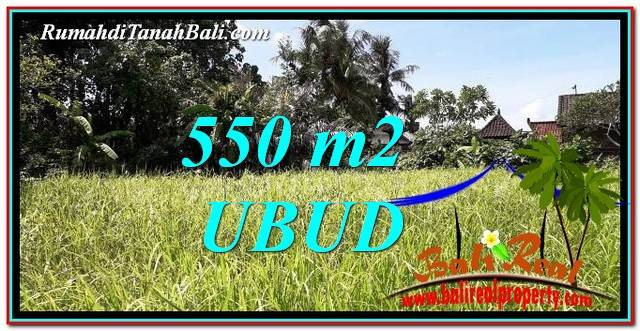Magnificent 550 m2 LAND IN Sentral Ubud FOR SALE TJUB766