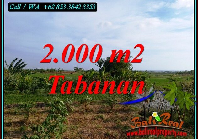 Exotic KERAMBITAN TABANAN BALI 2,000 m2 LAND FOR SALE TJTB492