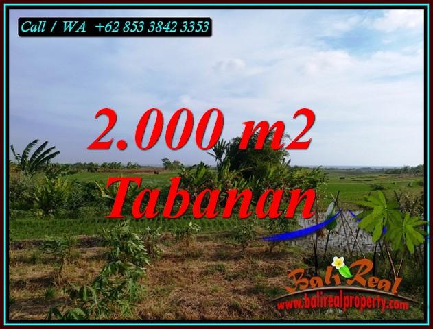 Affordable 2,000 m2 LAND IN KERAMBITAN TABANAN BALI FOR SALE TJTB492